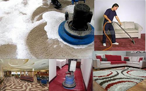 Sử dụng máy giặt thảm, máy chà sàn giặt thảm là những phương pháp vệ sinh thảm trải sàn được ưa chuộng hiện nay