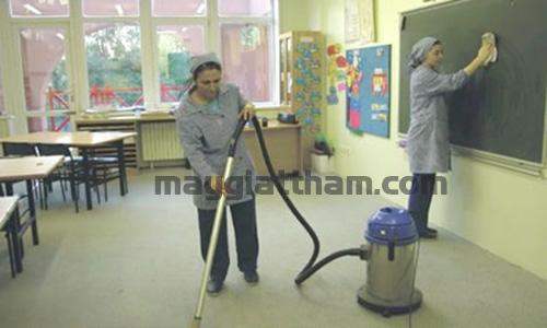 Hiện nay nhiều trường học sử dụng máy hút bụi công nghiệp cho công tác vệ sinh