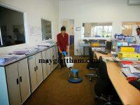 Máy chà sàn thảm HiClean được sử dụng trong công tác vệ sinh thảm trải.