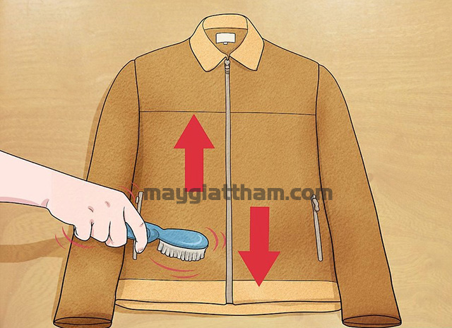 Cách giặt áo da lộn