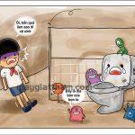 Cách tẩy trắng sàn nhà vệ sinh trong nháy mắt