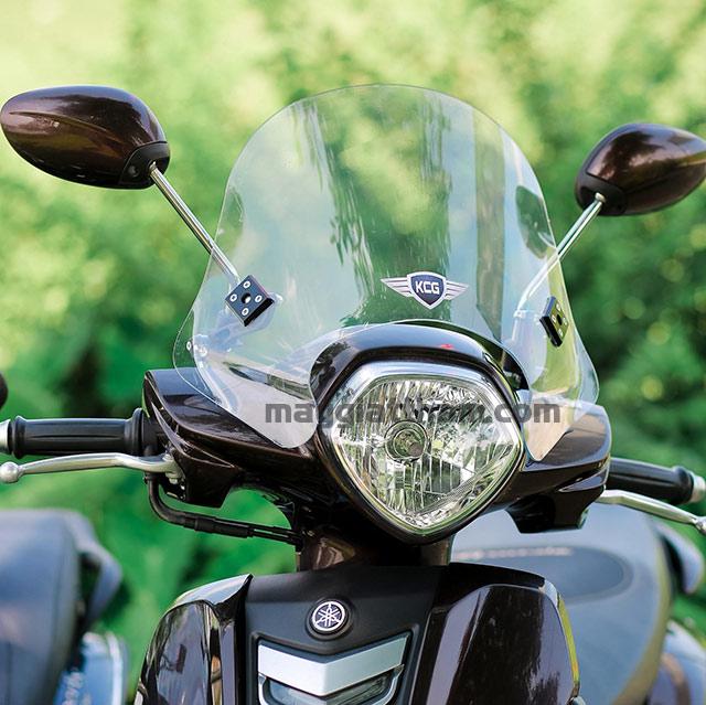 Ưu điểm khi lắp kính chắn gió cho xe máy