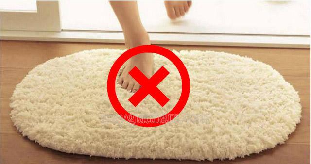 Chân bẩn không nên dẫm lên thảm lông