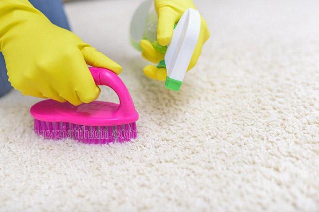 Giặt thảm lông đơn giản