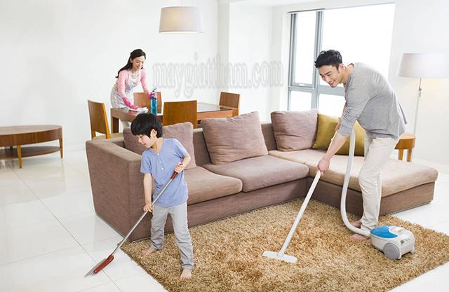 Ưu điểm của phương pháp giặt thảm khô