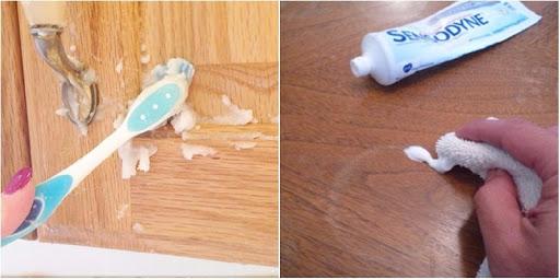 vệ sinh tủ gỗ công nghiệp bằng kem đánh răng