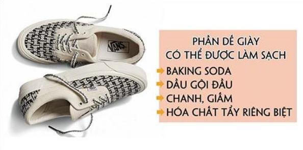 Trước tiên cần vệ sinh phần đế giày