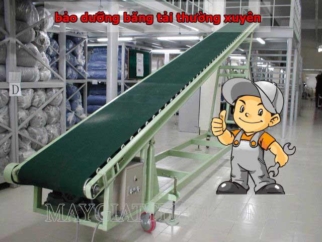 Bảo dưỡng băng tải thường xuyên giúp công việc không bị gián đoạn