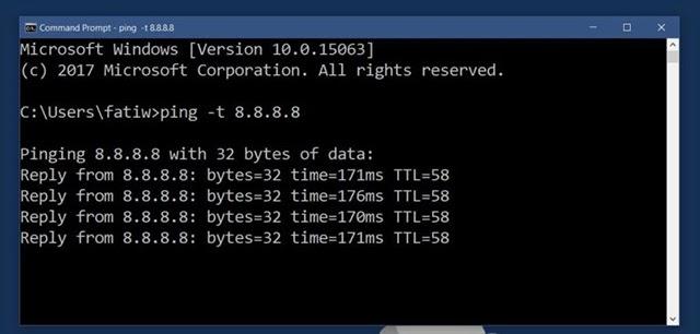 Cách kiểm tra tốc độ Ping theo địa chỉ IP từ Chromebook